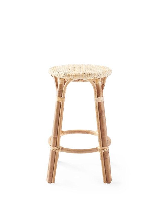 Rattan counter stool