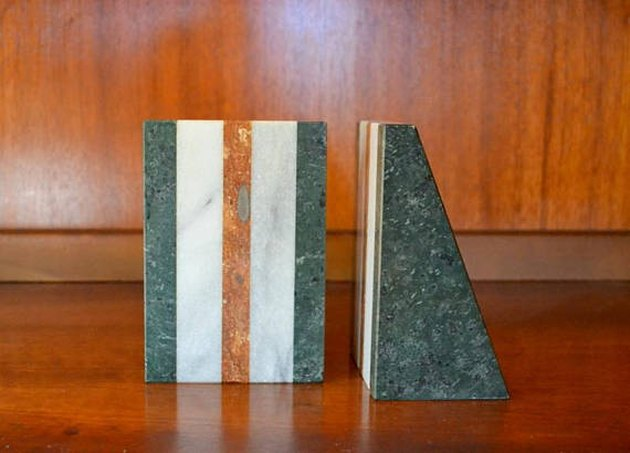 Tri-Color Marble Bookends