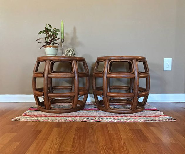 Wicker Rattan End Tables