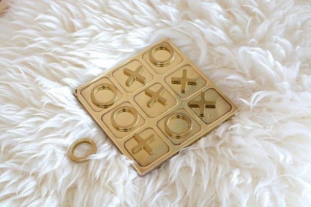 Brass Tic-Tac-Toe Game