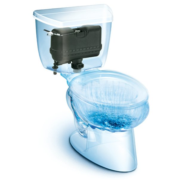 illustration of the inside of a pressure-assisted toilet from Consumer Reports