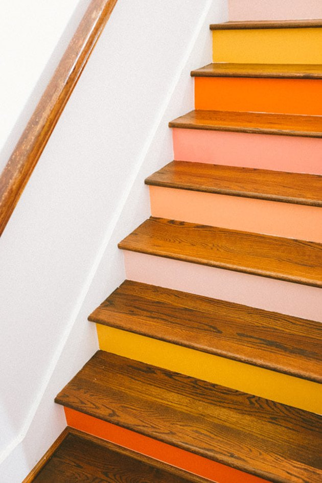 painted stairs ini desert color palette