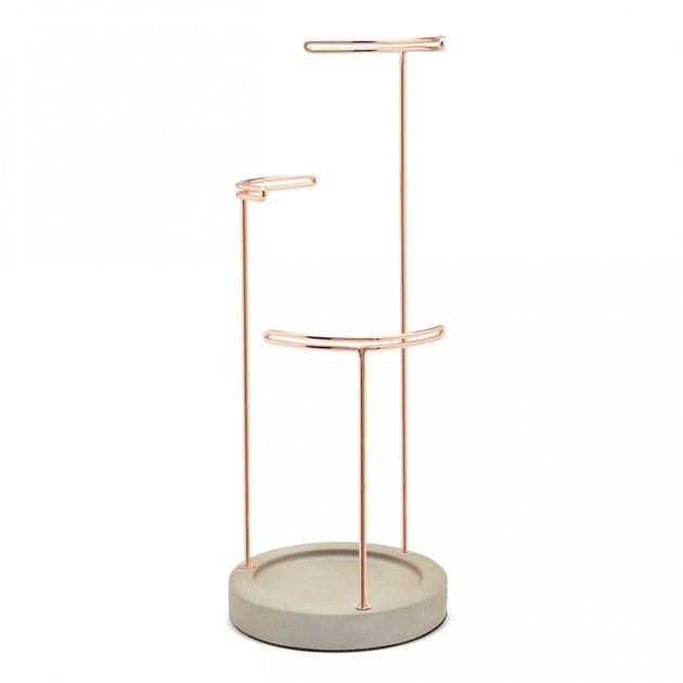 concrete jewelry stand