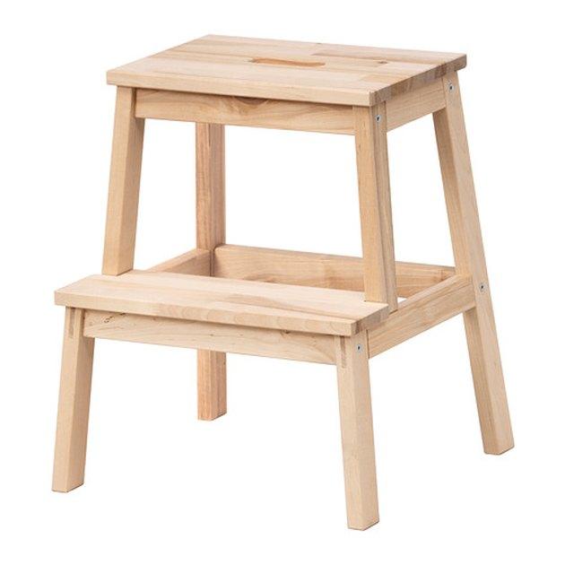 Blonde wood step stool
