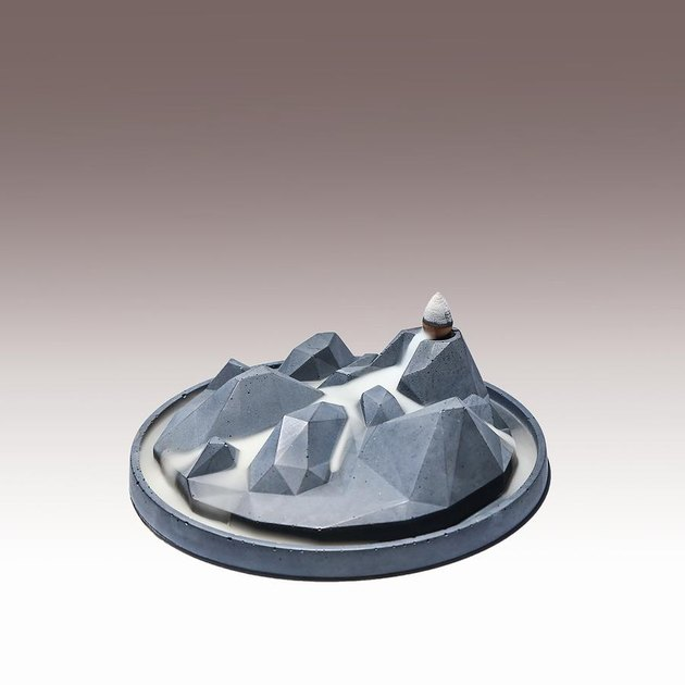 sculptural concrete incense holder