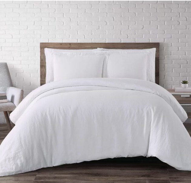 ider & Ivory Beverly Linen Three Piece Duvet Cover Set