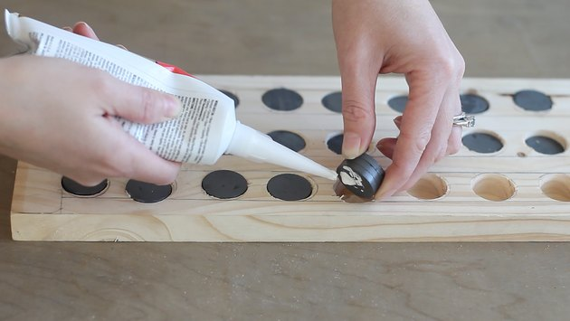 Gluing magnets into board