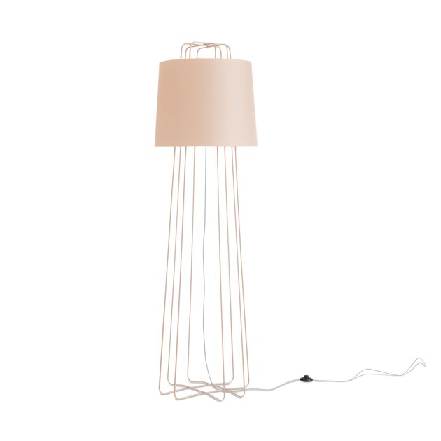 blush room decor with pink floor lamp by Blu Dot