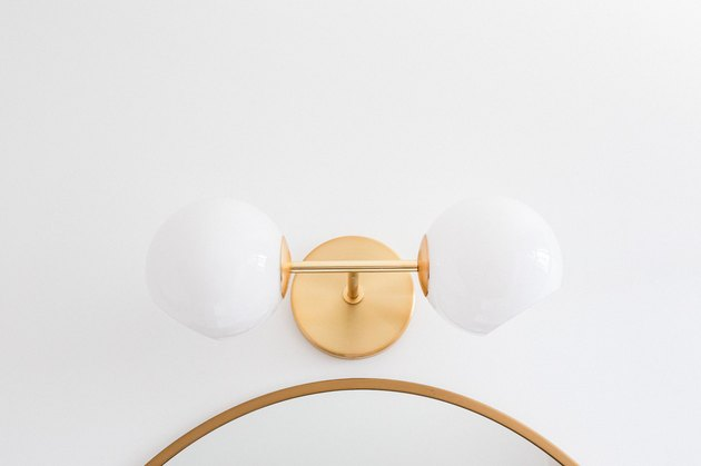 close up of pendant light