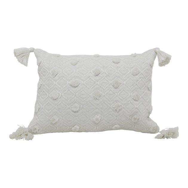 "Better Homes & Gardens 13"" x 19"" Outdoor Toss Pillow, Ivory Woven, $14.85"