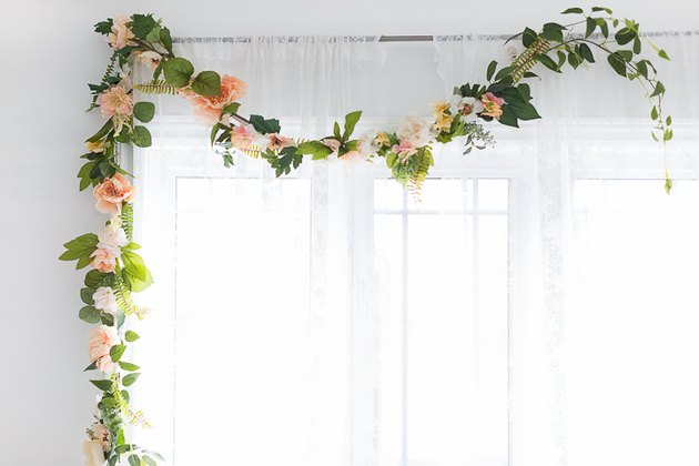 Summer flower garland.