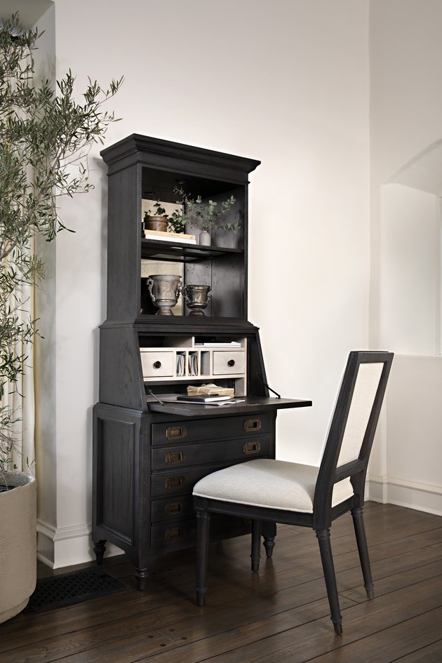 black secretary desk by Nate Berkus and Jeremiah Brent for Living Spaces