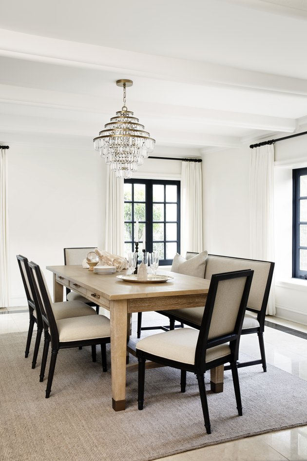 dining table with chairs by Nate Berkus and Jeremiah Brent for Living Spaces