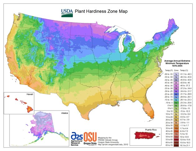 plant hardiness map