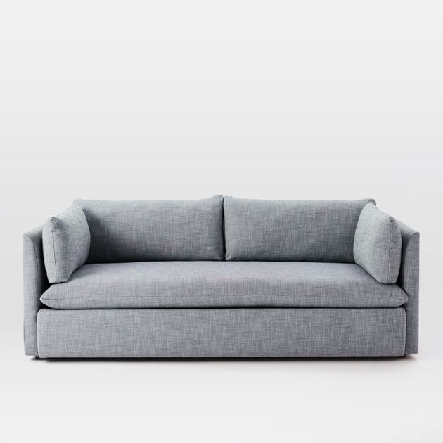 West Elm gray couch living room idea
