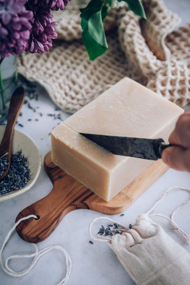 Melt and pour goat's milk soap