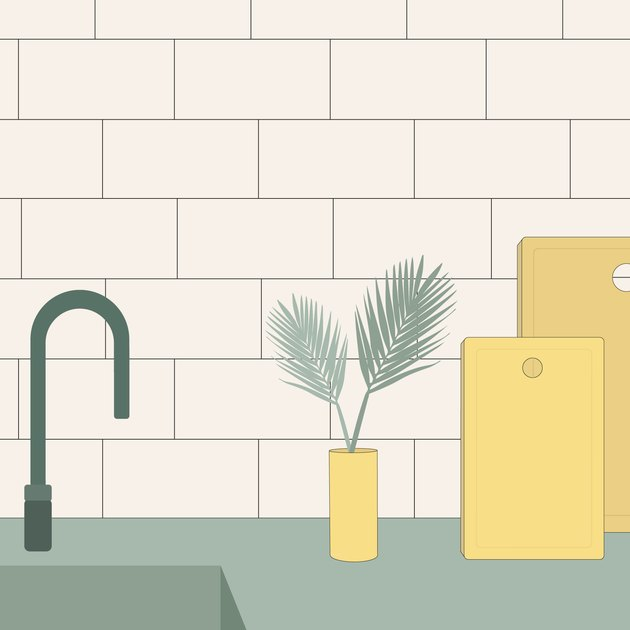 subway tile illustration