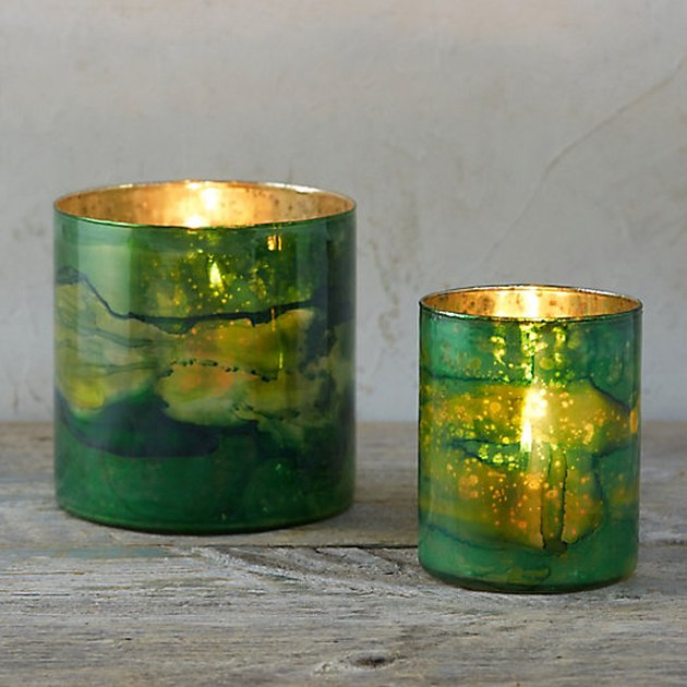 Terrain Watercolor Glass Votive