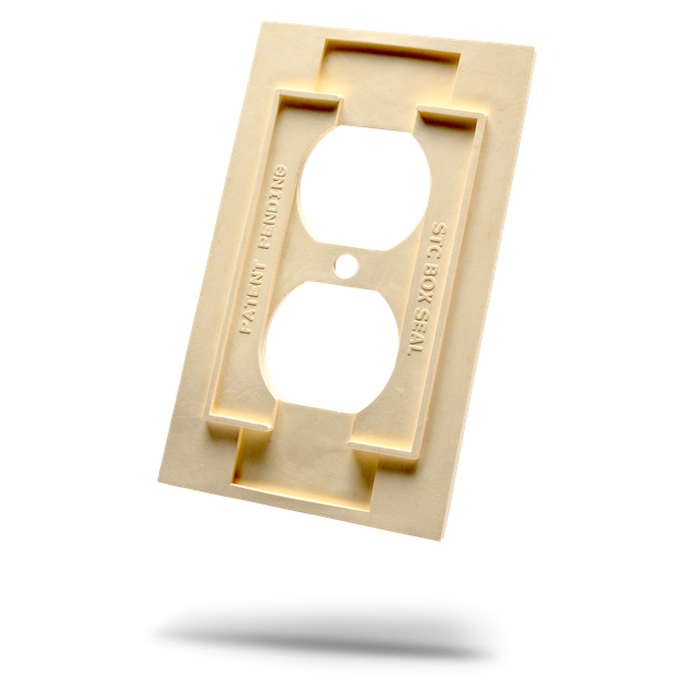 Soundproofing electrical outlet cover.