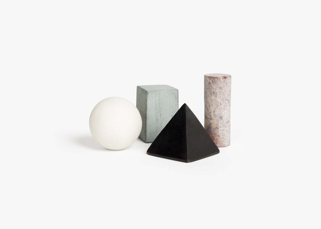 drink rocks in geometric shapes from Areaware