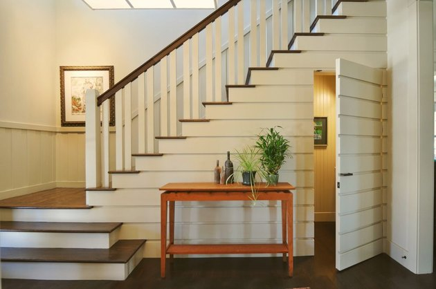 under the stair idea with powder room