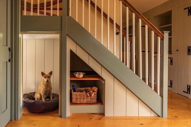 under the stair idea with dog house