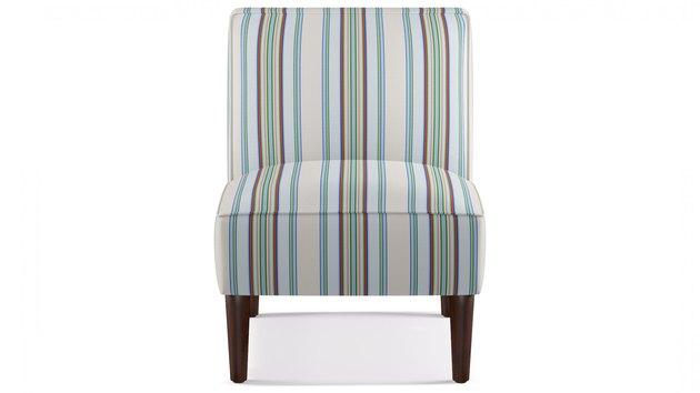 striped slipper chair