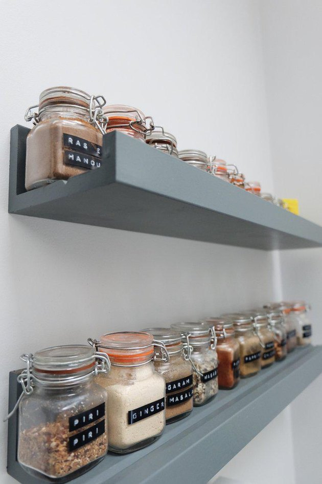 ledge shelving spice rack