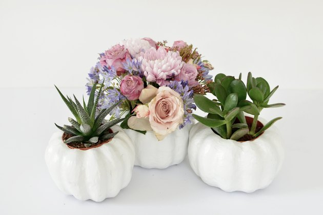 Pumpkin-shaped planters