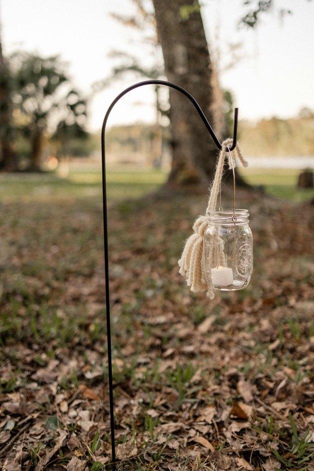 Mason jar lantern with tassel