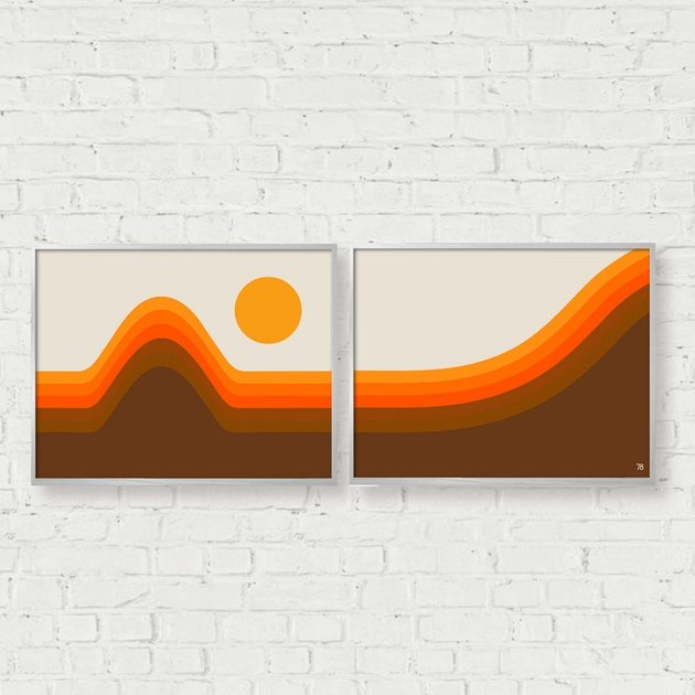 70s sunset two print set