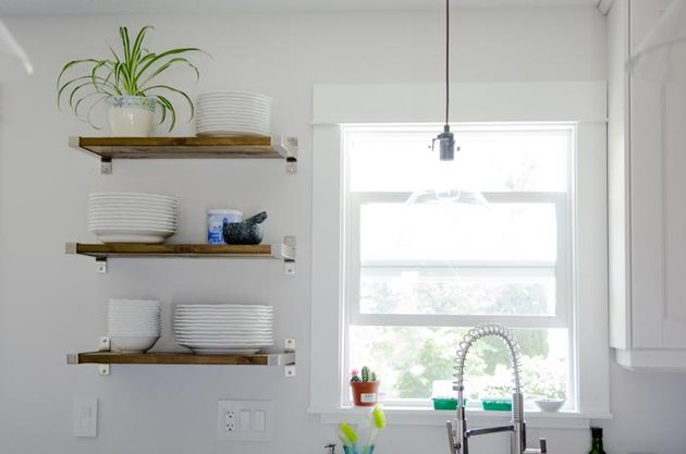 DIY open shelving