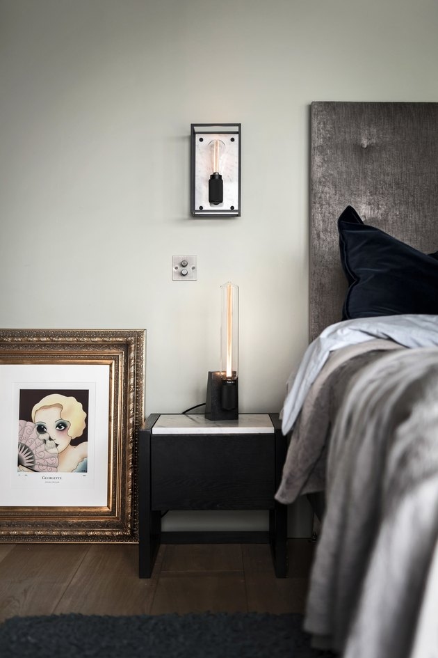 industrial style bedroom of Buster + Punch founder Massimo Minale