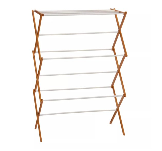 household essentials bamboo drying rack