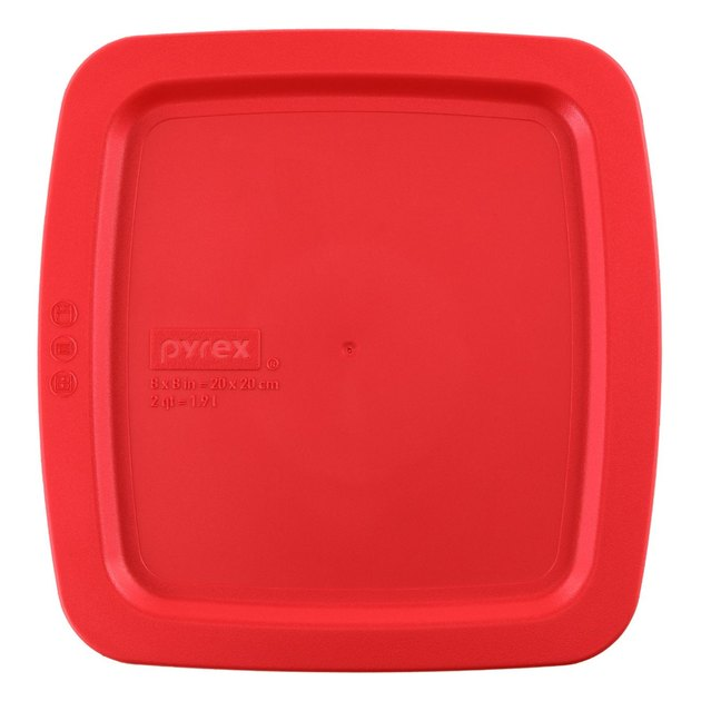 "Pyrex Red Lid for 8"" Square Glass Baking Dish"