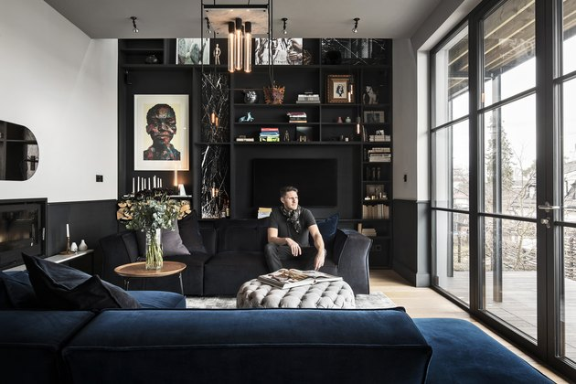 industrial style living room of Buster + Punch founder Massimo Minale