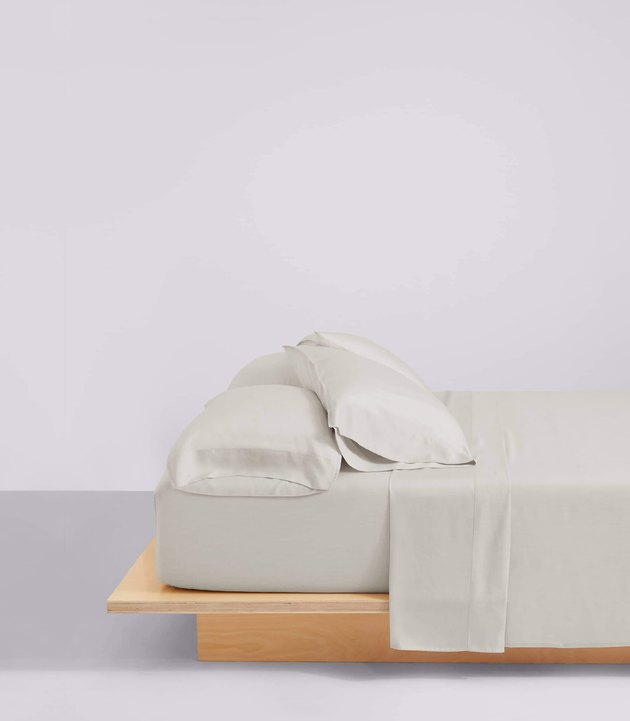bed with eucalyptus sheets