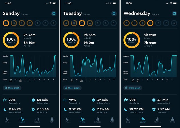 sleep cycle tracking app