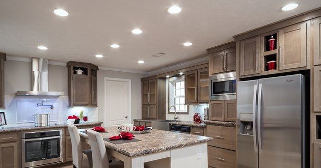 Kitchen recessed light fixtures.