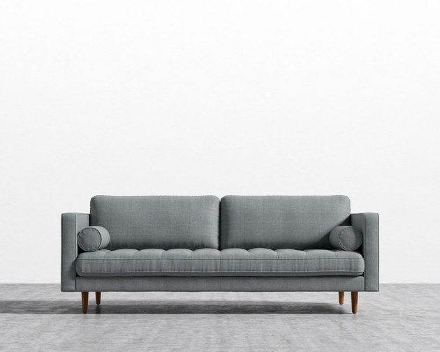 gray couch living room sofa