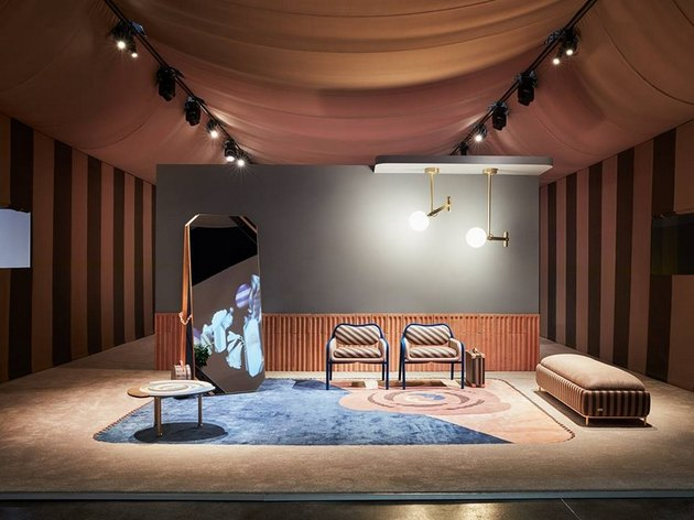 teracotta and blue room set from fendi casa