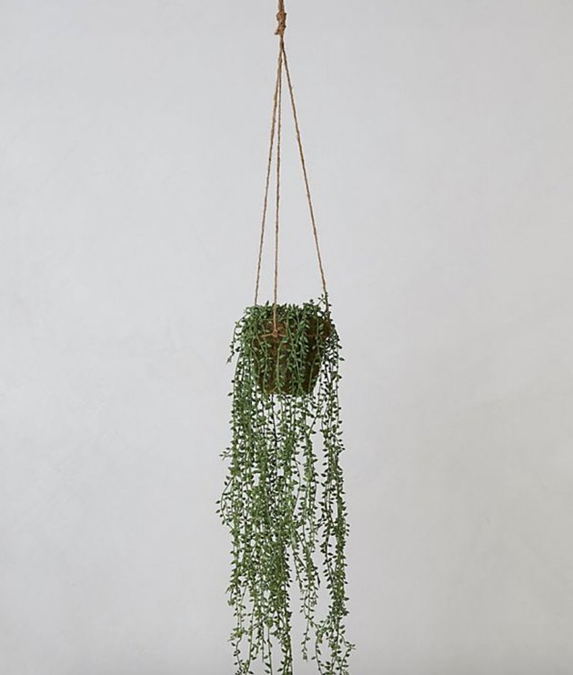 hanging faux potted plant