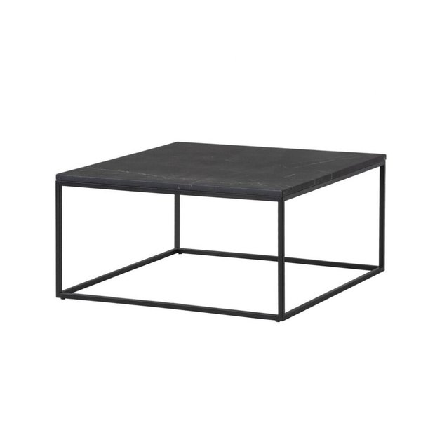 Minimal black metal square coffee table