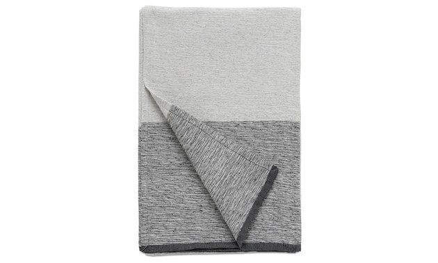 Grey color-blocked bedspread