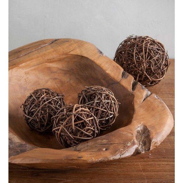decorative rattan balls