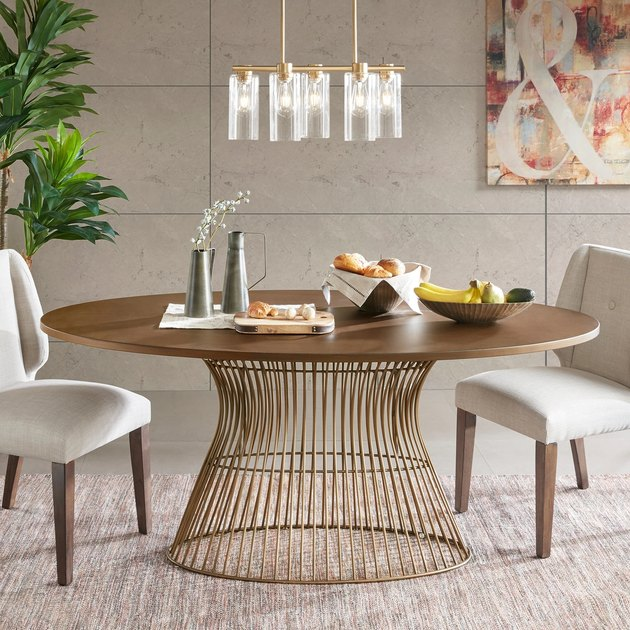 INK IVY Mercer Bronze Oval Dining Table, $599.49