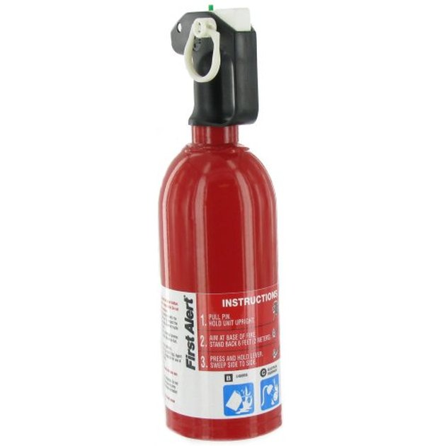 Automotive fire extinguisher.