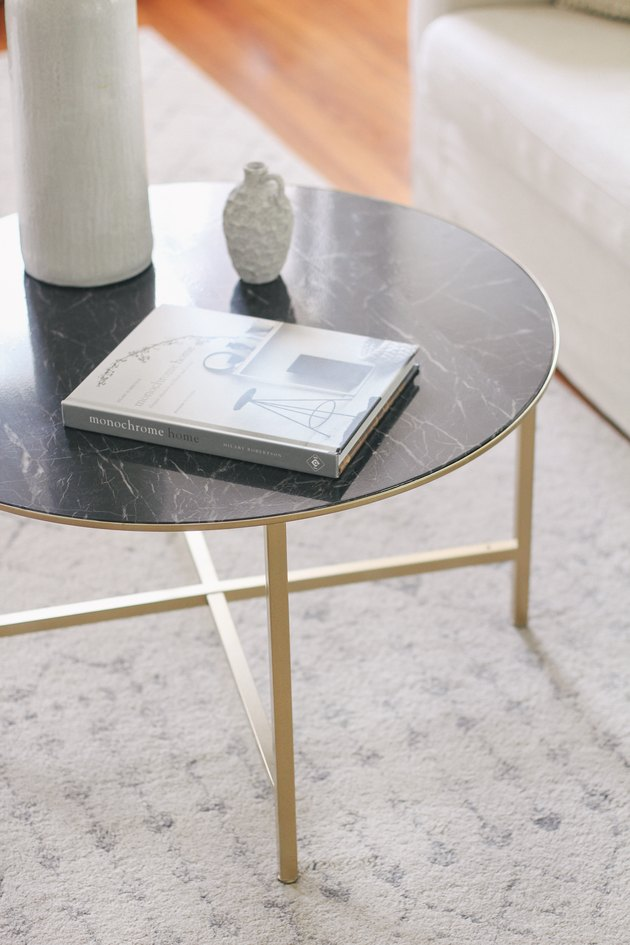 IKEA VITTSJO marble coffee table hack