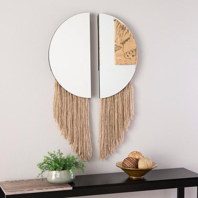 fringe boho mirror