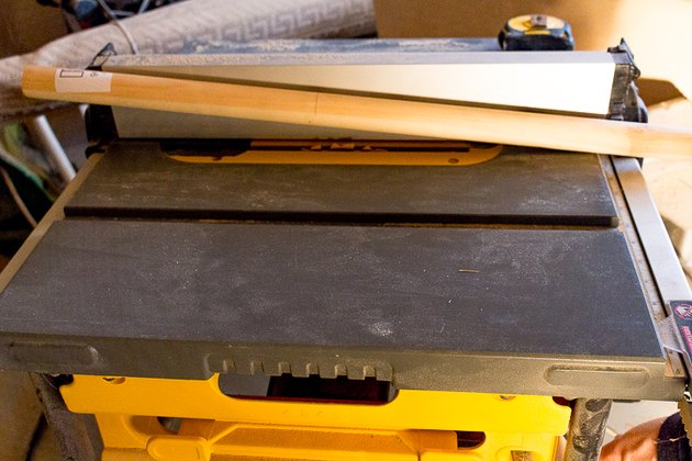 Table saw with blade.
